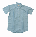 Boys Short Sleeve Oxford Cloth Shirt