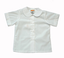 Girls Short Sleeve Broadcloth Blouse