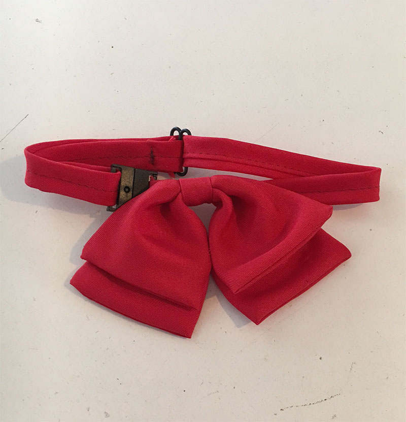Girls Red Bow Tie