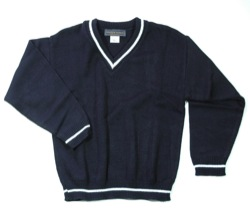 Unisex V-Neck Sweater with Trim