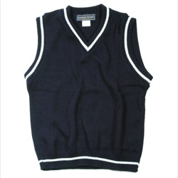 Unisex V-Neck Sweater Vest with Trim
